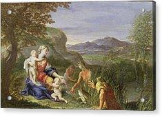 Latona And The Frogs Acrylic Print by Francesco Trevisani
