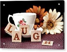 Laugh Acrylic Print by Tom Mc Nemar