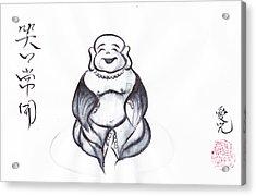 Laughing Buddha Acrylic Print by Oiyee At Oystudio