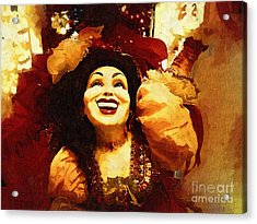 Laughing Gypsy Acrylic Print by Deborah MacQuarrie-Haig