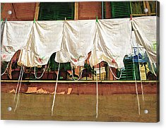 Laundry Day The Italian Way Acrylic Print by Lynn Andrews