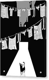 Laundry Acrylic Print by Andrew Hitchen