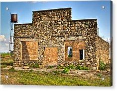Laura Town Ghost Town In Arkansas  Acrylic Print by Douglas Barnett