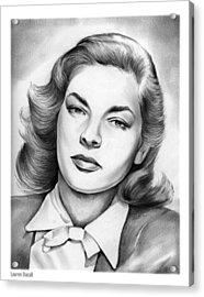 Lauren Bacall Acrylic Print by Greg Joens