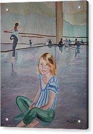 Lauren's Dance Class Acrylic Print by Stella Sherman