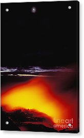 Lava And Moon Acrylic Print by William Waterfall - Printscapes