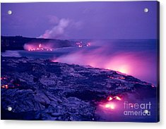 Lava Flows To The Sea Acrylic Print by Mary Van de Ven - Printscapes