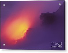Lava Meets The Sea Acrylic Print by William Waterfall - Printscapes
