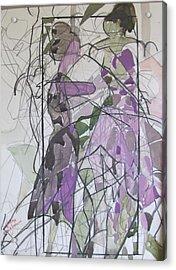Lavender Ladies Acrylic Print by Carole Johnson