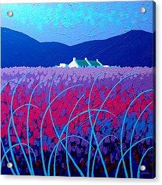 Lavender Scape Acrylic Print by John  Nolan