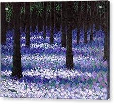 Lavender Woodland Acrylic Print by John  Nolan
