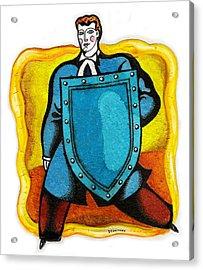 Lawyer Acrylic Print by Leon Zernitsky