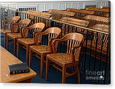 Lawyer - The Courtroom Acrylic Print by Paul Ward