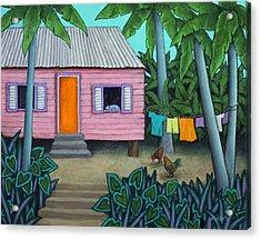 Lazy Day In The Caribbean Acrylic Print by Lorraine Klotz