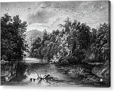 Lazy River Acrylic Print by Douglas Barnett