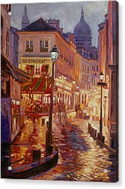 Le Consulate Montmartre Acrylic Print by David Lloyd Glover