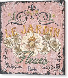 Le Jardin 1 Acrylic Print by Debbie DeWitt