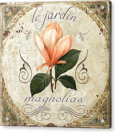 Le Jardin Magnolias Acrylic Print by Mindy Sommers