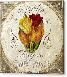 Le Jardin Tulipes Acrylic Print by Mindy Sommers