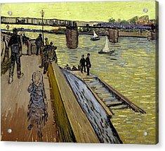 Le Pont De Trinquetaille In Arles Acrylic Print by Vincent Van Gogh
