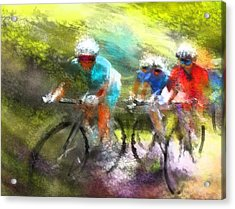 Le Tour De France 11 Acrylic Print by Miki De Goodaboom