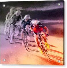 Le Tour De France 13 Acrylic Print by Miki De Goodaboom