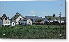 Lea Homestead Acrylic Print by DigiArt Diaries by Vicky B Fuller