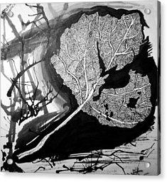 Leaf Acrylic Print by Jera Sky