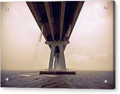 Leaking Bridge Acrylic Print by Michael Frizzell