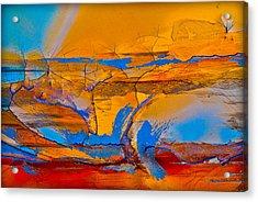 Leap Into The Sky Acrylic Print by David Clanton