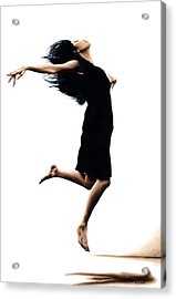 Leap Into The Unknown Acrylic Print by Richard Young