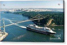 Leaving Vancouver Harbour Acrylic Print by Rod Jellison