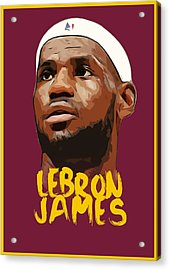 Lebron James King Acrylic Print by Semih Yurdabak