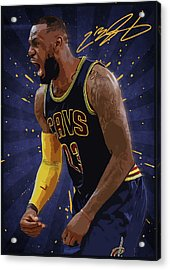 Lebron James Nba Acrylic Print by Semih Yurdabak