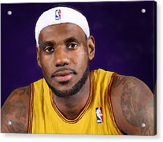 Lebron James Acrylic Print by Rick Mosher