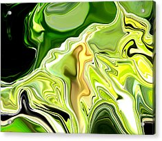Leek Abstract Acrylic Print by Linnea Tober