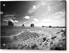 Left And Right Mittens And Merrick Butte Acrylic Print by Ryan Kelly