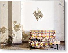 Left Behind Sofa  - Abandoned Building Acrylic Print by Dirk Ercken