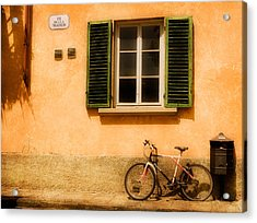 Left Flat In Lucca Acrylic Print by Mick Burkey