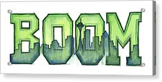 Legion Of Boom Acrylic Print by Olga Shvartsur