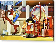 Lego Christopher Columbus Acrylic Print by Lanjee Chee