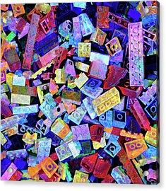 Legos Acrylic Print by Barbara Berney