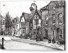 Leigh Arms Prestbury Acrylic Print by Vincent Alexander Booth