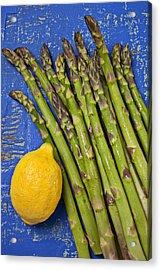 Lemon And Asparagus  Acrylic Print by Garry Gay