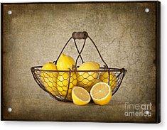 Lemons Acrylic Print by Heather Swan