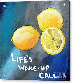 Lemons Acrylic Print by Linda Woods