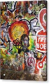 Lennon Wall, Prague Acrylic Print by Mark Williamson