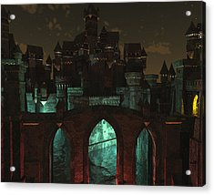 L'entree Sombre Du Fantome Acrylic Print by Steven Palmer