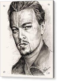 Leonardo Dicaprio Portrait Nr.2 Acrylic Print by Alban Dizdari