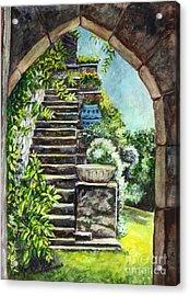 Les Escaliers En Bandouille In Sevres France  Acrylic Print by Carol Wisniewski